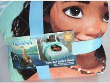 Disney Moana Blue Twin Full Quilt and Sham Set