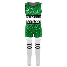 Girls School Cheer Leaders Performance Costume Hip-hop Modern Jazz Dance Outfit