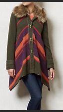 Anthropologie Cartonnier Capelike Faux Fur Collar Coat Small
