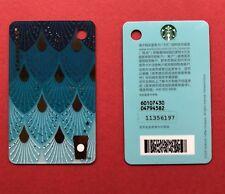 CS1814 2018 China Starbucks coffee Filigree MSR cards Black and White 2pcs