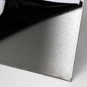 Edelstahl Blech von 0,8 bis 3,0mm Stärke K240 geschliffen Zuschnitt nach Maß