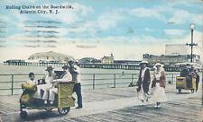 USA Rolling chairs on the Boardwalk Atlantic city NJ 1919 PC
