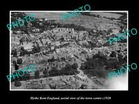 OLD LARGE HISTORIC PHOTO OF HYTHE KENT ENGLAND, VIEW OF THE TOWN c1920