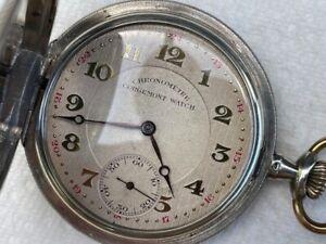 Alte Schweizer Chronometre Corgemont Watch Savonette TAU Silber 800 1900/1910