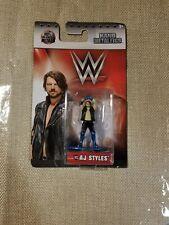 AJ Styles WWE Champion Nano Metalfigs W13 New Sealed 100% Die-Cast Metal, Wave 2