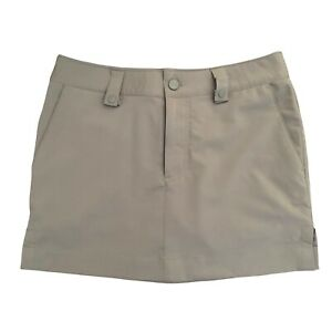 Under Armour UA Womens Size 2 Khaki Golf Skort / Skirt Beige Short Stretch