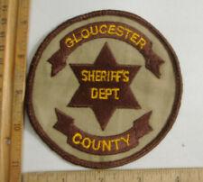 GLOUCESTER CO. VIRGINIA  SHERIFF FABRIC PATCH