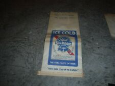 Pabst Blue Ribbon Ice Cooler Bags Vintage 1960's, 1970's