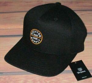 MENS BRIXTON BLACK CAP SNAPBACK ADJUSTABLE HAT
