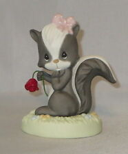 Precious Moments Skunk Figurine Our Love Is Heaven Scent Rose Retired Rare NWOB