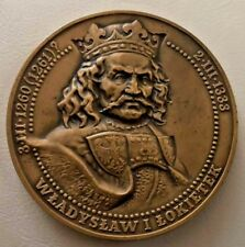 Polish-king-Wladyslaw-Lokietek-Bronze Medal-Plowce-Battle-Nowakowski 70 mm N149