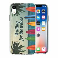 For Apple iPhone XR Silicone Case Waves Surfing - S575