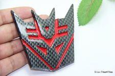 D121 Transformers Decepticon auto aufkleber 3D Emblem Badge  car Sticker rot