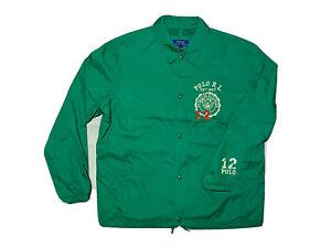 Mens Polo Ralph Lauren Colour Waterproof Jacket, Green, Large RRP £285 NEW