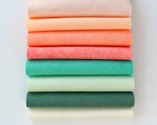 "Living Coral Felt FabricCollection Merino Wool Blend Felt, Eight 9"" X 12"" Sheets"