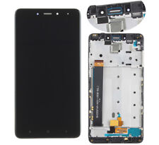 LCD Display Touch Screen Glass Replacement +Frame Black For Xiaomi Redmi Note 4