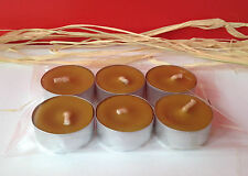 40 pcs  HANDMADE  100% BEESWAX TEA LIGHTS
