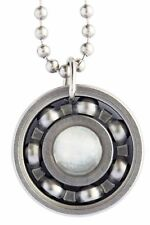 Moonstone Roller Derby Skate Bearing Pendant Necklace - June Birthstone