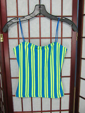 womens teen blue/green spaghetti strap top size S