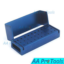 AA Pro: 30 Holes Dental Aluminum Bur Burs Holder Box Autoclave Blue ColorDN-2086