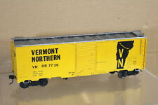 ALL NATION VINTAGE KIT BUILT WOOD O SCALE VERMONT NORTHERN VN BOXCAR WAGON nl