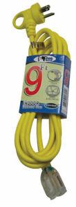 Conntek  Extension Cord  16/3 SJTW  9 ft. L Yellow