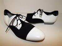 New Adidas Y-3 Yamamoto 7.5 D White Black Dress Lace Oxfords G45540