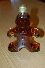 """GINGERBREAD BOY SHAPED SYRUP BOTTLE- 100% PURE MAPLE SYRUP - 7 """" TALL-FULL"""
