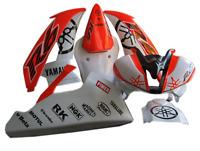 Adesivi moto carene Yamaha R6 racing arancio fluo