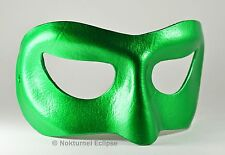 Male Green Lantern Leather Mask Halloween Cosplay Costume Geek Marvel Accessory