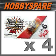 4 x OS GLOW PLUG A3 No.6 HOT NITRO RC HSP HPI KYOSHO TRUCK BUGGY CAR