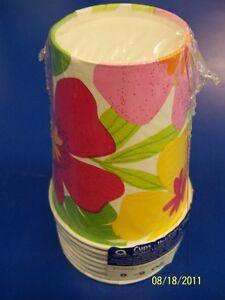 Floral Paradise Warm Flower Hibiscus Summer Luau Beach Party 9 oz. Paper Cups