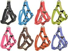 Dogline Comfort Microfiber Soft Padded Step In Pet Puppy Dog Harness Nylon Reinf
