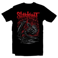 Ashen One and Slave Knight Gael Dark Souls x Slipknot Metal Rock Black T-Shirt