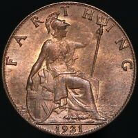 1921 | George V Farthing | Bronze | Coins | KM Coins
