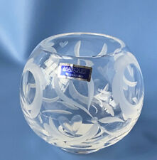 """Marquis by Waterford Yours Truly 4"""" Votive Lead Crystal Gr8 Holiday Gift!"""