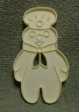 "VINTAGE 1989 PILLSBURY DOUGHBOY WHITE PLASTIC COOKIE CUTTER 4.25"" TALL"