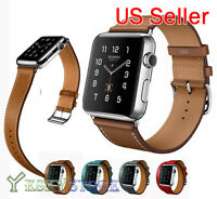 Genuine Leather Band Single Tour Bracelet Watchband For Apple Watch iWatch