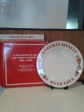 Rhtf Vtg 1982 Avon Baked With Love Porcelain Plate-New In Box