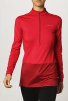 Falke 3/4 Zip Shirt Long Sleeve Brushed Chilli Red Ladies Size 16 XL *REF95*