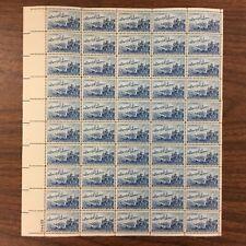 {BJ Stamps} 1000   Landing of Cadillac, Detroit.    MNH   3¢ sheet of 50.  1951.
