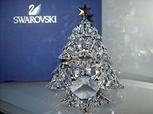 "Swarovski Crystal Christmas Tree Shining Gold Star #1139998 2012 4"" NIB Austria"