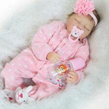 22'' Handmade Realistic Baby Girl Doll Soft Silicone Vinyl Reborn Newborn Dolls