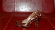 VINTAGE REAL ALLIGATOR RARE SEXY 1950'S  POINTED PUMPS~ 7AAA
