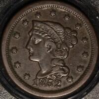 "1852 ""BRAIDED HAIR"" LARGE CENT!"