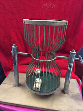 Vintage Chuck a Luck Dice Game Birdcage Roller Mounted on Board 361601