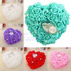 NEW Romantic Pearl Rose Wedding Favors Heart Shaped Ring Box Pillow Cushion Gift