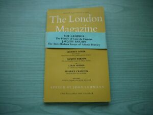THE LONDON MAGAZINE P/BACK AUGUST 1957 - VOLUME 4 No.8 ROY CAMPBELL,COLIN WILSON