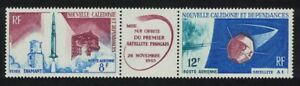 New Caledonia Launching of First French Satellite 2v Strip 1966 MNH