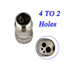 Transfer 4 to 2 Hole Adapter Quick Connector Coupler Adaptor Dental Handpiece